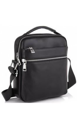 Черная мужская сумка в руку и на плечо Tiding Bag NM23-6013A