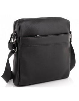 Черная мужская кожаная сумка на плечо Tiding Bag NM23-8017A
