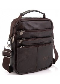 Мужская кожаная сумка - коричневая NM24-218C