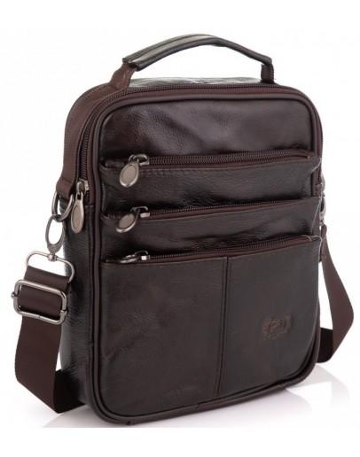 Фотография Мужская кожаная сумка - коричневая NM24-218C