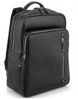 Черный мужской кожаный рюкзак Tiding Bag NM29-5073BA