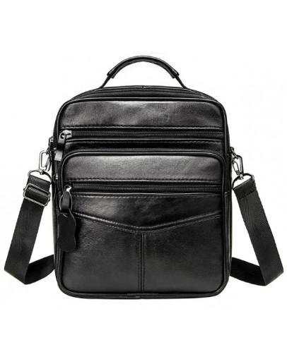 Фотография Мужская черная сумка - барсетка NM44-108A