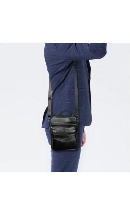 Мужская черная сумка - барсетка NM44-108A