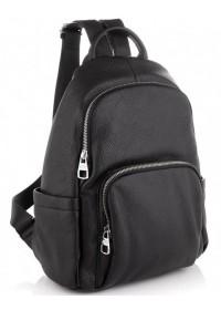 Рюкзак женский черный кожаный Olivia Leather NWBP27-001A