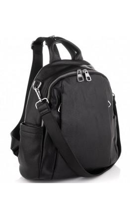 Кожаный женский рюкзак черный Olivia Leather NWBP27-002A