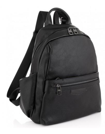 Фотография Кожаный черный женский рюкзак Olivia Leather NWBP27-009A