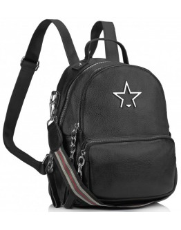 Черный женский кожаный рюкзачек Olivia Leather NWBP27-5530-1A