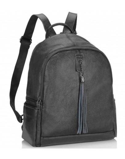 Фотография Женский рюкзак черный кожаный Olivia Leather NWBP27-6627A