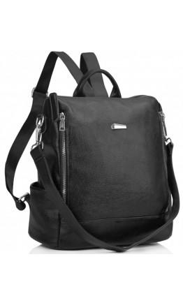 Черный кожаный для женщин рюкзак Olivia Leather NWBP27-8845A