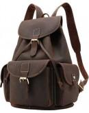 Фотография Кожаный мужской коричневый брутальный рюкзак P3165
