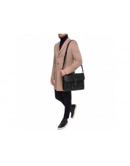Мужская вместительная кожаная сумка на плечо Blamont P531711