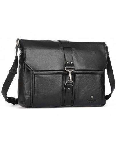 Фотография Мужская вместительная кожаная сумка на плечо Blamont P531711