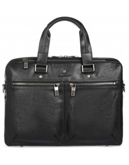 Черная кожаная сумка для документов Blamont P5912071