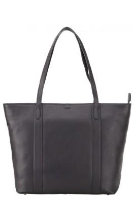Черная кожаная женская сумка Visconti PLT20 Sophia 13 Laptop (Black)