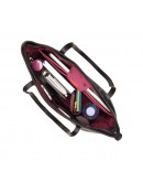 Фотография Черная кожаная женская сумка Visconti PLT20 Sophia 13 Laptop (Black)