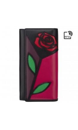 Женский кошелек кожаный Visconti PTL30 Alba (Fuchsia Multi)