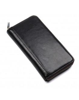 Черный кожаный клатч R-4440A