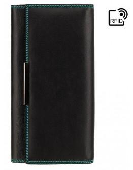 Женское кожаное портмоне Visconti R11 Paloma c RFID (Black/Rhumba)