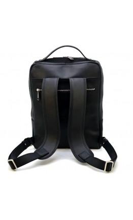 Черный мужской кожаный рюкзак Tarwa RA-1239-4lx