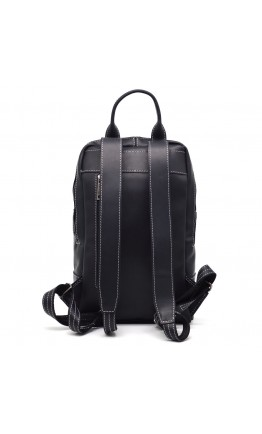 Черный кожаный женский рюкзак из винтажной кожи Tarwa RA-2008-3md