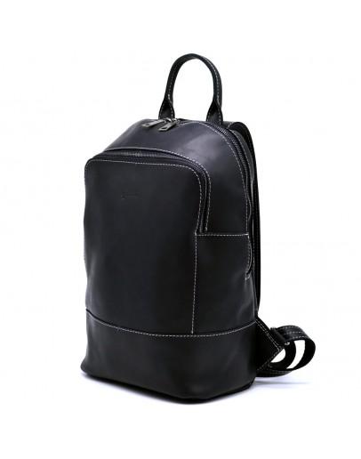 Фотография Черный кожаный женский рюкзак из винтажной кожи Tarwa RA-2008-3md