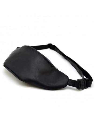 Фотография Мужская черная сумка на пояс c темной молнией Tarwa RA-3036-3md