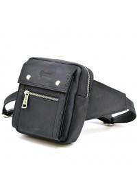 Мужская сумка на пояс и грудь коричневая TARWA RA-7777-4lx