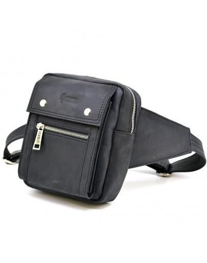 Фотография Мужская сумка на пояс и грудь коричневая TARWA RA-7777-4lx