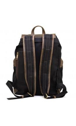 Вместительный рюкзак из канваса и натуральной кожи Tarwa RAc-0010-4lx