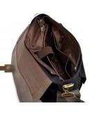 Фотография Мужская сумка на плечо из кожи и канваса Tarwa RAc-6690-4lx