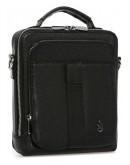 Фотография Черная кожаная мужская сумка в руку и на плечо Royal RB-009A