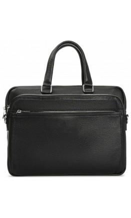 Кожаная черная мужская сумка Royal RB-010A-1