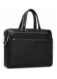 Кожаная черная деловая сумка для документов Royal RB-010A