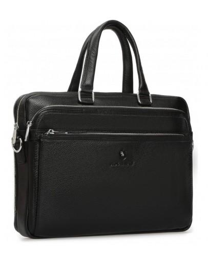 Фотография Кожаная черная деловая сумка для документов Royal RB-010A