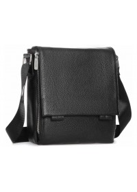 Мужская кожаная сумка черная на плечо Royal RB-020A