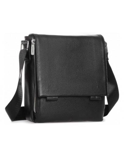 Фотография Мужская кожаная сумка черная на плечо Royal RB-020A