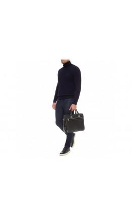 Мужская кожаная черная сумка для документов Royal RB-021A-1