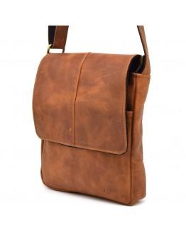 Мужская сумка на плечо кожаная рыжая Tarwa RB-1301-3md