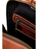 Фотография Рыжий кожаный женский рюкзак из винтажной кожи Tarwa RB-2008-3md