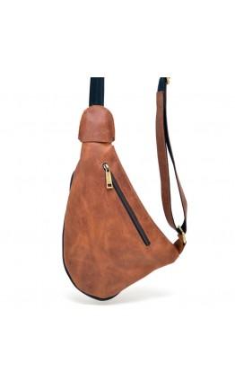 Мужской винтажный слинг рыже-коричневого цвета Tarwa RB-3026-3md