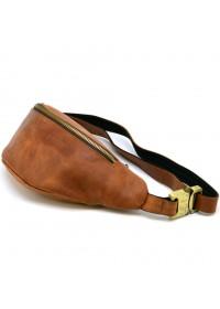 Коричневая мужская винтажная сумка на пояс Tarwa RB-3035-3md
