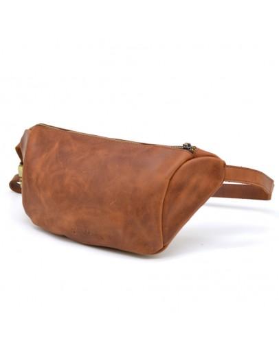 Фотография Кожаная винтажная мужская сумка на пояс Tarwa RB-3100-3md