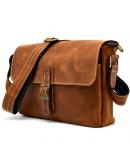 Фотография Винтажная мужская коричневая сумка на плечо Tarwa RB-7084-3md