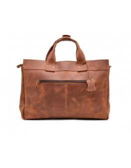 Рыже-коричневая кожаная мужская сумка Tarwa RB-7107-3md