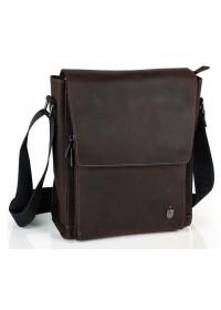 Винтажная мужская коричневая сумка на плечо Royal Bag RB-V-JD4-7055C