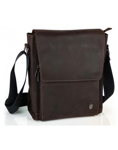 Фотография Винтажная мужская коричневая сумка на плечо Royal Bag RB-V-JD4-7055C