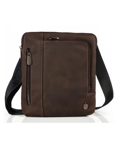 Фотография Винтажная коричневая мужская сумка на плечо Royal Bag RB-V-JMD4-0030C