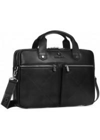 Черная мужская кожаная деловая удобная сумка Royal Rb012A-2