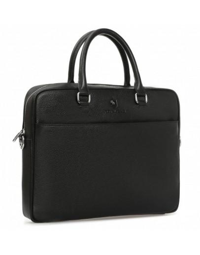 Фотография Деловая черная мужская кожаная сумка Royal RB-015A