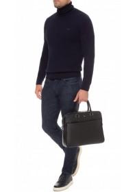 Деловая черная мужская кожаная сумка Royal RB-015A